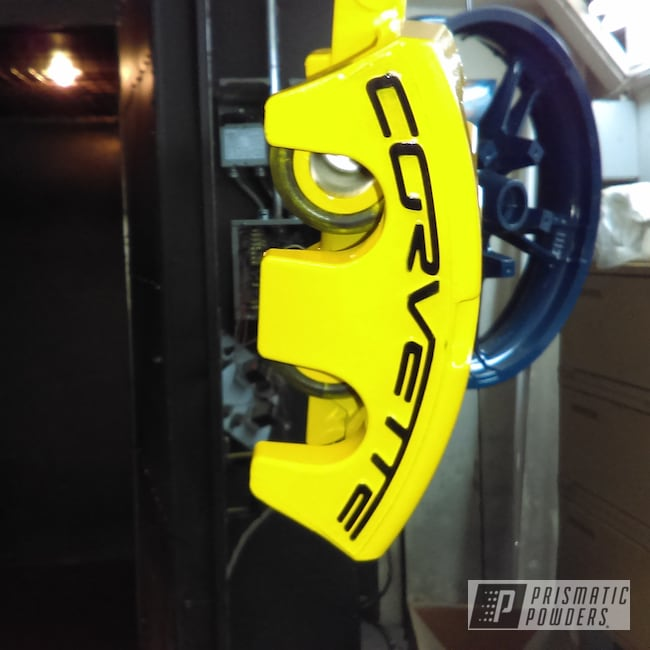 Powder Coating: Automotive,Chevrolet,Brake Calipers,Yes Yellow PSS-5691,Corvette,brakecalipers
