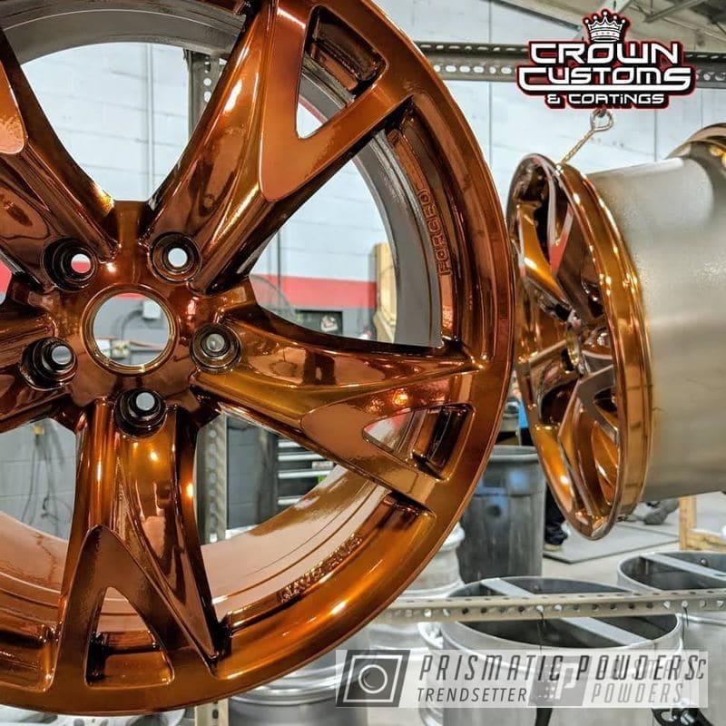 Powder Coating: Automotive,Custom Automotive,19inch,Nissan,Transparent Copper PPS-5162,SUPER CHROME USS-4482,370,Nissan Wheels