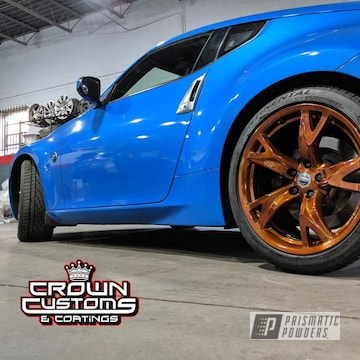 Powder Coated Copper Nissan 370 Wheels
