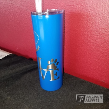 Powder Coated Blue Drinkware