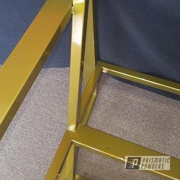 Powder Coated Furniture In A Brass Finish