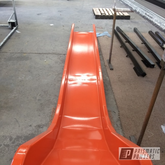 Powder Coated Orange Slide