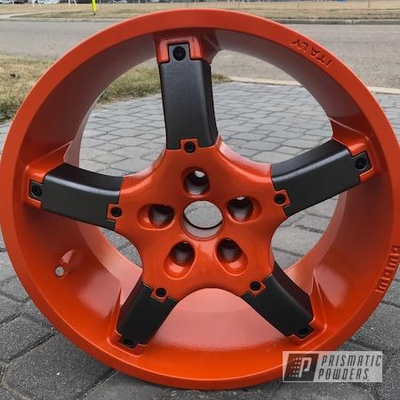 Powder Coating: Wheels,RAL 2009 Traffic Orange,STERLING BLACK UMB-1204,Momo Wheels,Custom Wheels,Momo