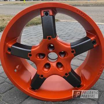 Powder Coated Orange Momo Wheels
