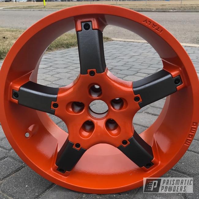 Powder Coating: Wheels,RAL 2009 RAL-2009,STERLING BLACK UMB-1204,Momo Wheels,Custom Wheels,Momo