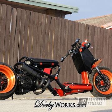 Powder Coated Orange Honda Rukus