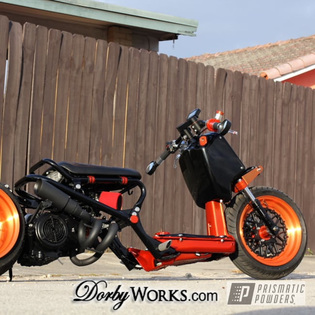 Powder Coating: BLACK JACK USS-1522,Orange Tangelo PPB-2324,Honda,Honda Rukus,Powder Coated Honda Rukus Wheel