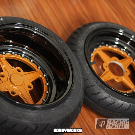 Powder Coating: Wheels,Orange Tangelo PPB-2324,Honda,Powder Coated Honda Rukus Wheel