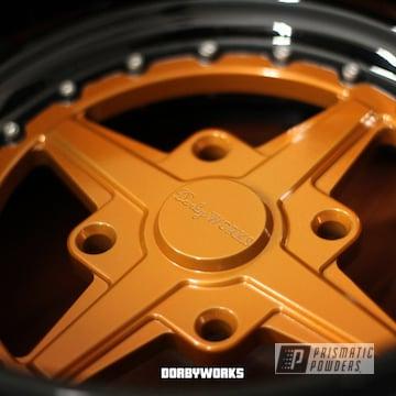 Powder Coated Orange Honda Rukus Wheels