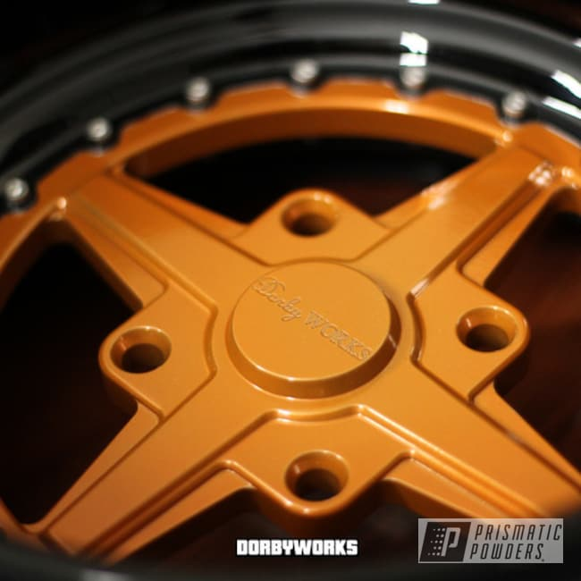 Powder Coated Orange Honda Rukus Wheels