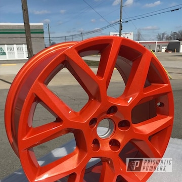 Orange Powder Coated Wheels