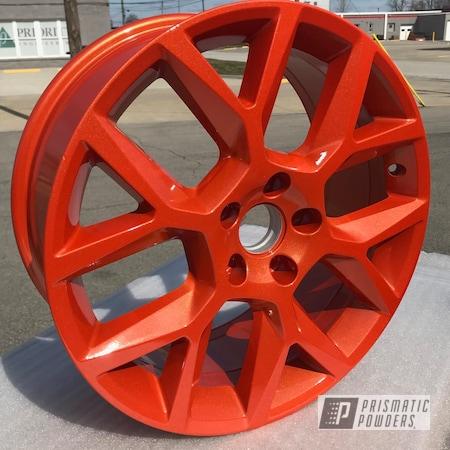 Powder Coating: Wheels,Automotive,Clear Vision PPS-2974,Custom Powder Coated Rims,Illusion Orange PMS-4620