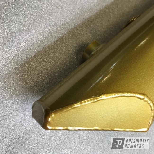 Aluminum Part Powder Coated In A Brass Color