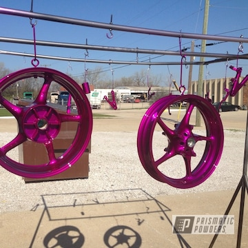 Purple Powder Coated Motorcycle Parts