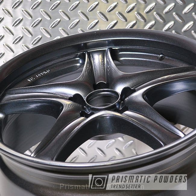 "Powder Coating: Single Powder Application,Wheels,Automotive,17"" Wheels,Misty Lava PMB-4217,Solid Tone"