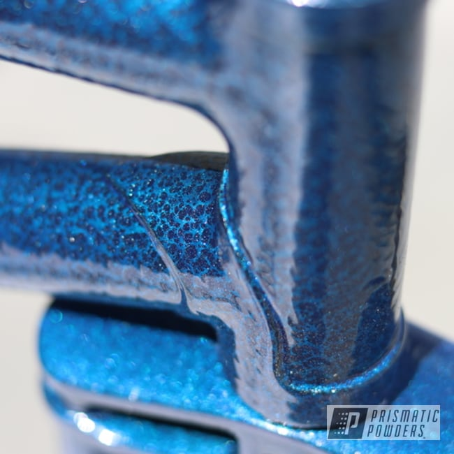Powder Coating: Maui Blue PPB-5210,Bike,Bicycle,Silver Artery PVS-3014