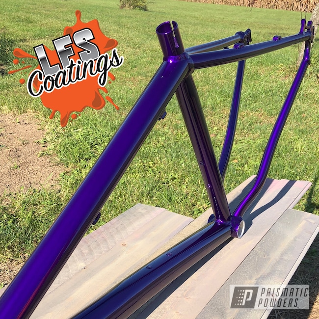 Powder Coating: Illusion Purple PSB-4629,Bicycles,Mountain Bike,MTB,Clear Vision PPS-2974,Trek,Bike,Downhill,BMX