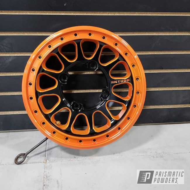 Powder Coating: Wheels,Automotive,Clear Vision PPS-2974,Ink Black PSS-0106,Method,RZR,Illusion Orange PMS-4620,Beadlock