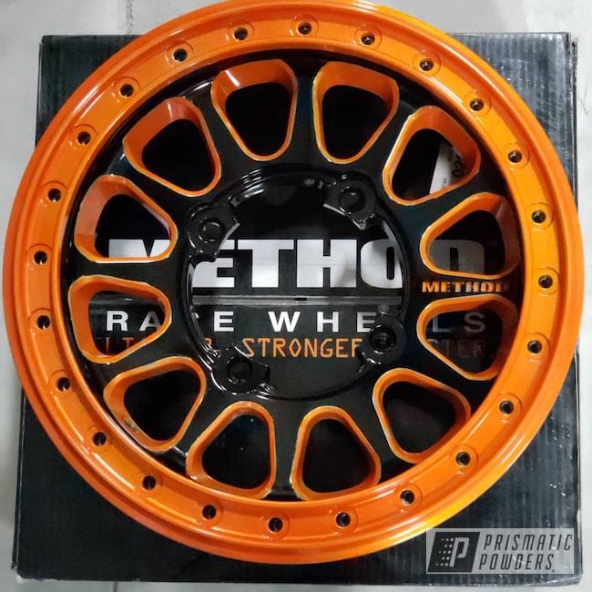 Powder Coating: Wheels,Automotive,Clear Vision PPS-2974,Ink Black PSS-0106,Method,RZR,Illusion Orange PMS-4620,Beadlock