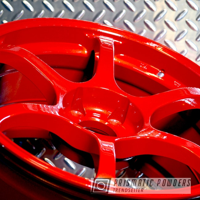 Powder Coating: Wheels,Automotive,Clear Vision PPS-2974,Auto Anthracite Polychem,Illusion Red PMS-4515,ADVAN,Racing Wheels