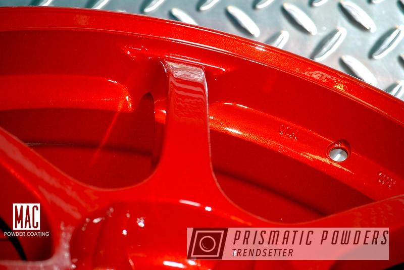 Powder Coated Red Advan Wheels