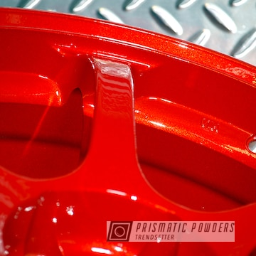 Powder Coated Red Advan Wheels