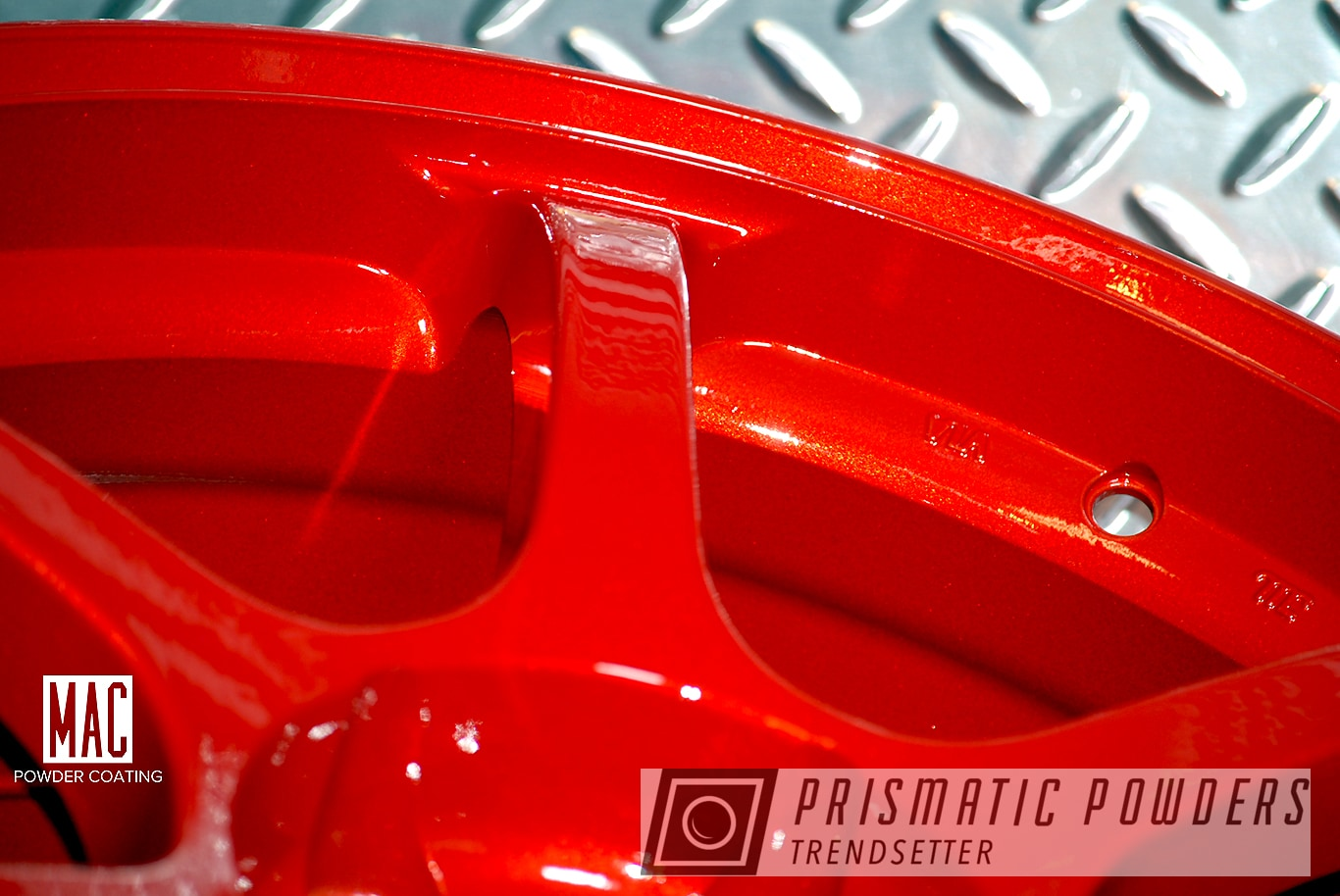 Powder Coating: Wheels,Automotive,Clear Vision PPS-2974,Illusion Red PMS-4515,Auto,ADVAN,Racing Wheels