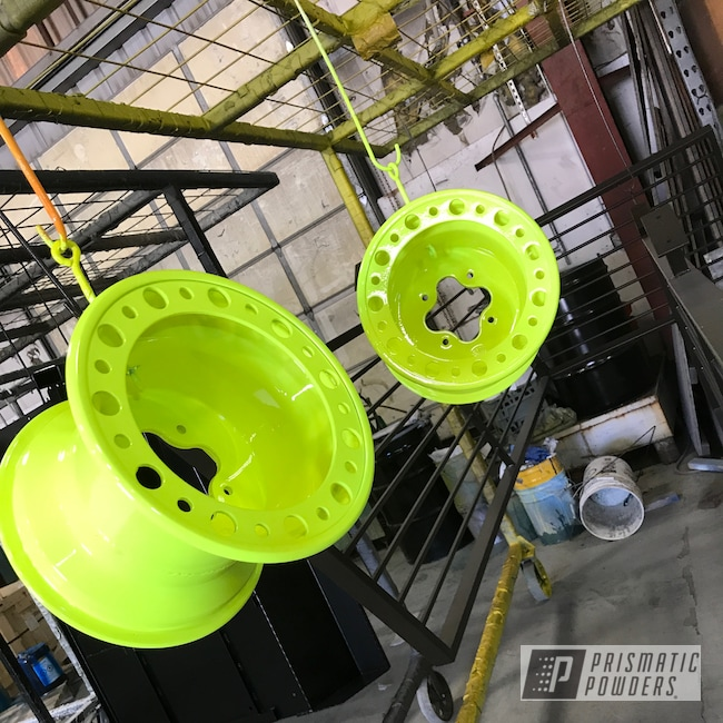 Powder Coating: Wheels,TRX450R,ATV,ITP Baja Wheels,Off-Road,Neon Yellow PSS-1104,Honda TRX