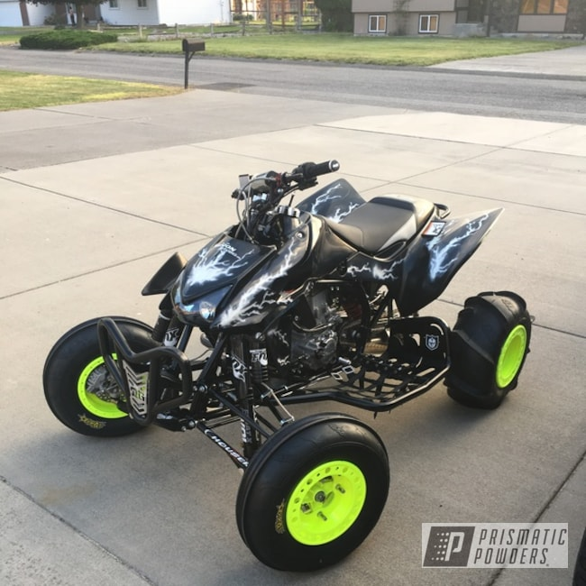 Powder Coating: Wheels,TRX450R,ATV,ITP Baja Wheels,Off-Road,Neon Yellow PSS-1104,Honda TRX