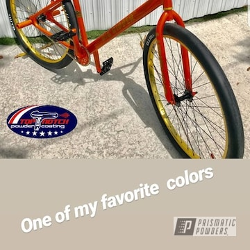 Se Big Ripper Bicycle In A Orange Powder Coat