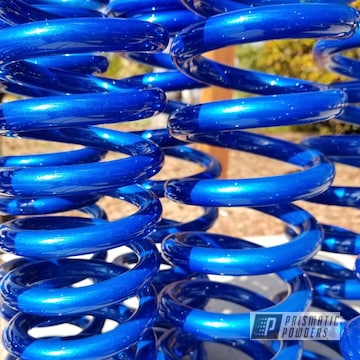 Auto Springs Finished In A Blue Powder Coating