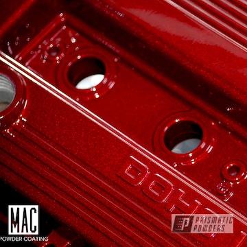 Powder Coated Red Mazda Valve Cover