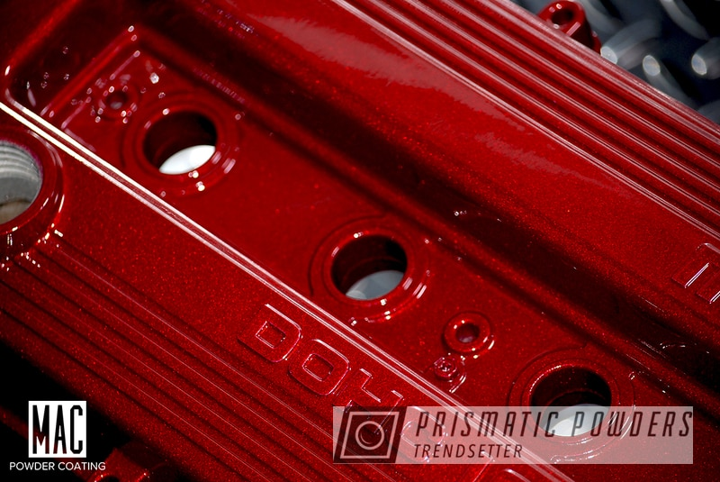 Powder Coating: Automotive,Clear Vision PPS-2974,Valve Covers,Mazda,Illusion Cherry PMB-6905