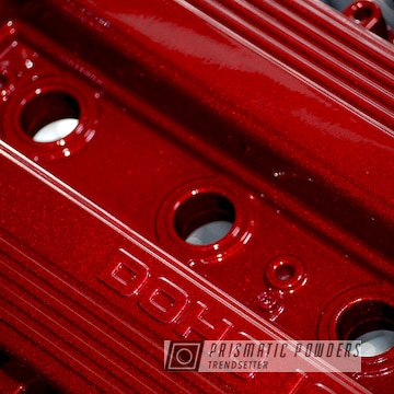 Powder Coated Red Mazda Valve Cover