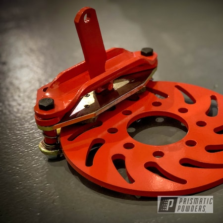 Powder Coating: Monster Truck,Brakes,Axle,Toyota,Brake,Axle Brake,Custom Brakes,Hemi Orange PSB-5898