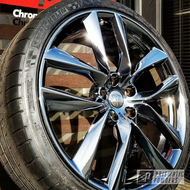 Powder Coating: Black Chrome II PPB-4623,Automotive,2 Piece Wheels,blackchrome