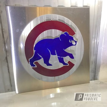 Chicago Cubs Powder Coated Sign