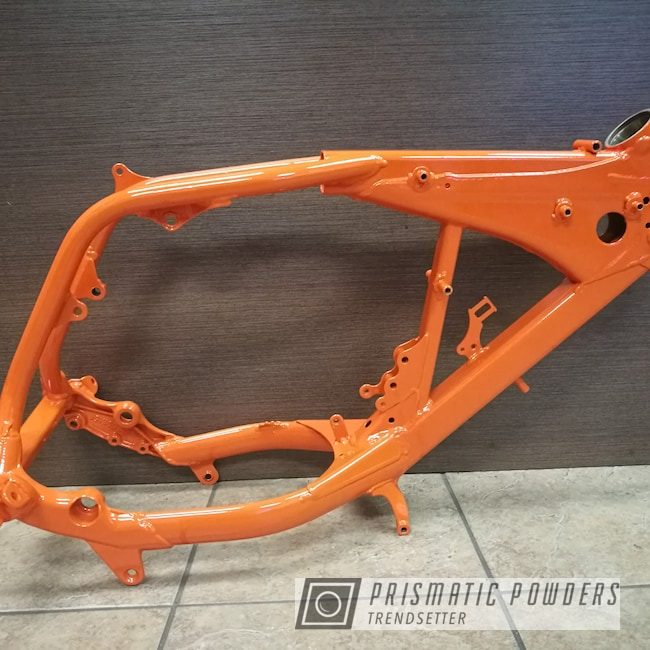 Powder Coating: Motorcycle Frame,Motorcycle Parts,Solid Tones,International Orange PSS-2779