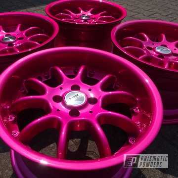 Powder Coated Pink Wheels