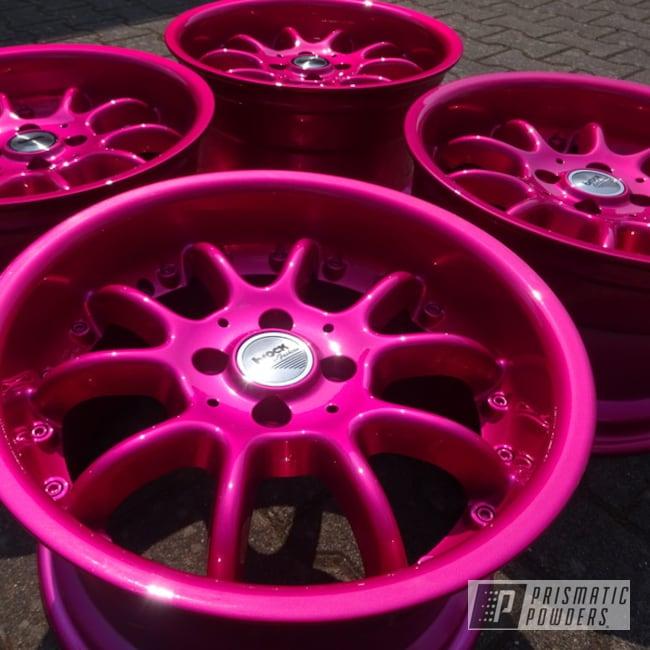 Powder Coating: Wheels,Automotive,Clear Vision PPS-2974,Illusion Pink PMB-10046,Powder Coat Wheels