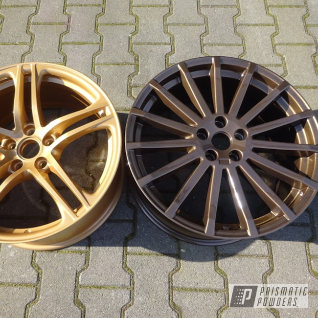 Powder Coated Bronze And Gold Wheels