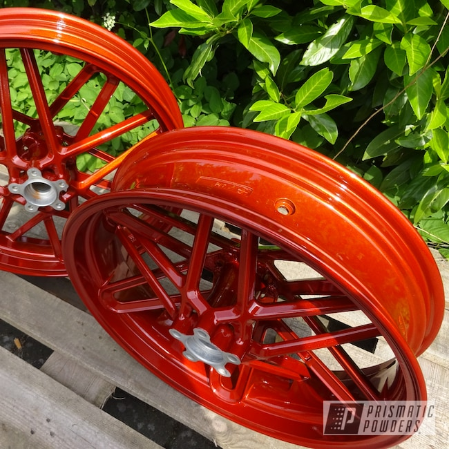 Powder Coating: Harley Davidson,Clear Vision PPS-2974,Motorcycle Rims,Motorcycles,Illusion Rootbeer PMB-6924