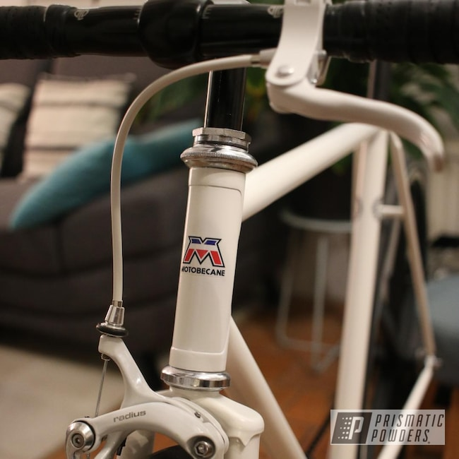 Powder Coating: Bicycles,Motobecane,Bicycle,Frame,Watson White PSB-6649