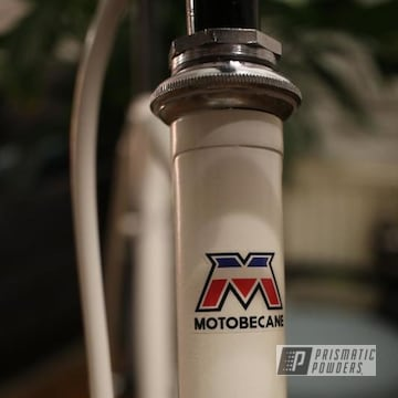 Motobecane Bicycle Frame In Watson White