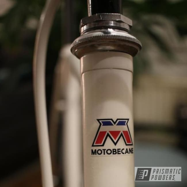 Motobecane Bicycle Frame In Watson White