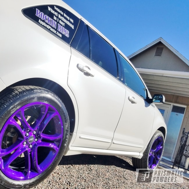 "Powder Coating: Illusion Purple PSB-4629,Wheels,Automotive,rockin rims,Clear Vision PPS-2974,Rims,Applied Plastic Coatings,22"" Aluminum Rims,Purple wheels"