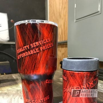 Powder Coated Tumbler In A Brushed Finish