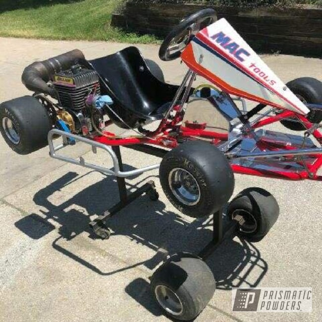 Go Kart done in Astatic Red and Super Chrome   Prismatic Powders