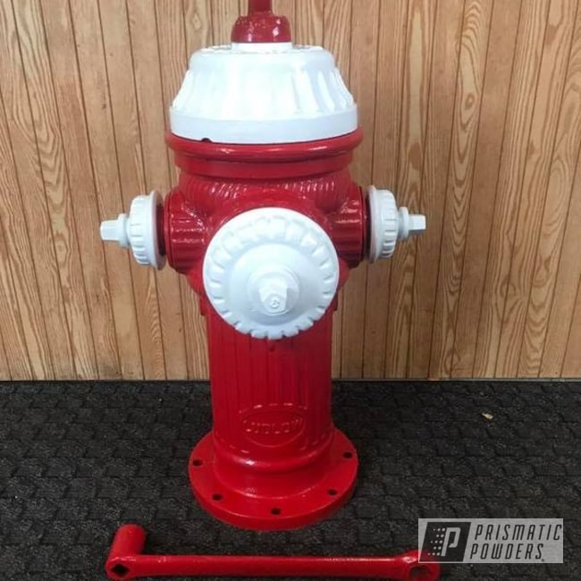 Powder Coating: Fire Hydrant,Polar White PSS-5053,Astatic Red PSS-1738