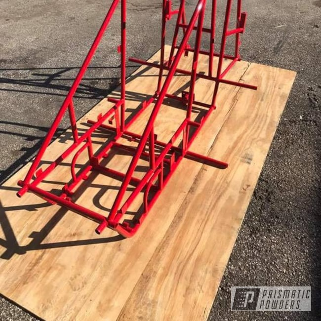 Powder Coating: Custom Frame,Astatic Red PSS-1738